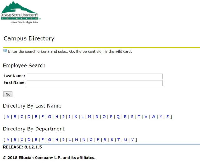 ASU directory
